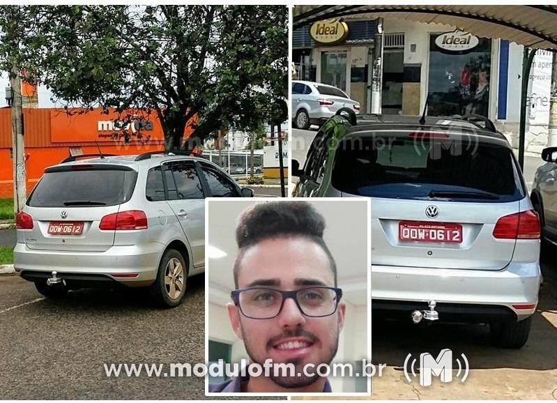 Taxista de São Gotardo desaparece e veículo é visualizado pelo olho vivo em Patrocínio