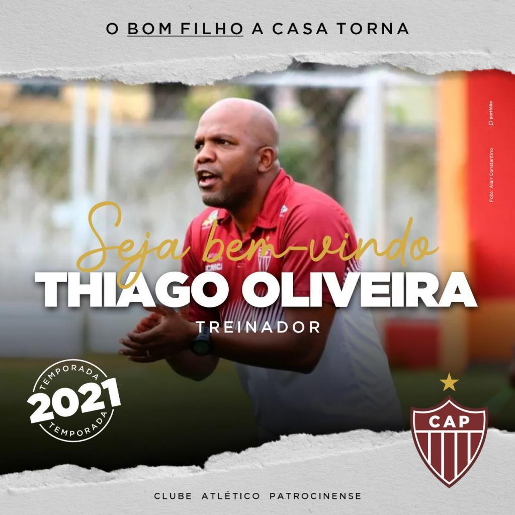 Thiago Oliveira é anunciado como treinador do CAP para...
