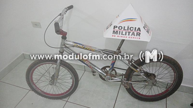 Bicicleta furtada é recuperada e homem é preso por receptação em Serra do Salitre