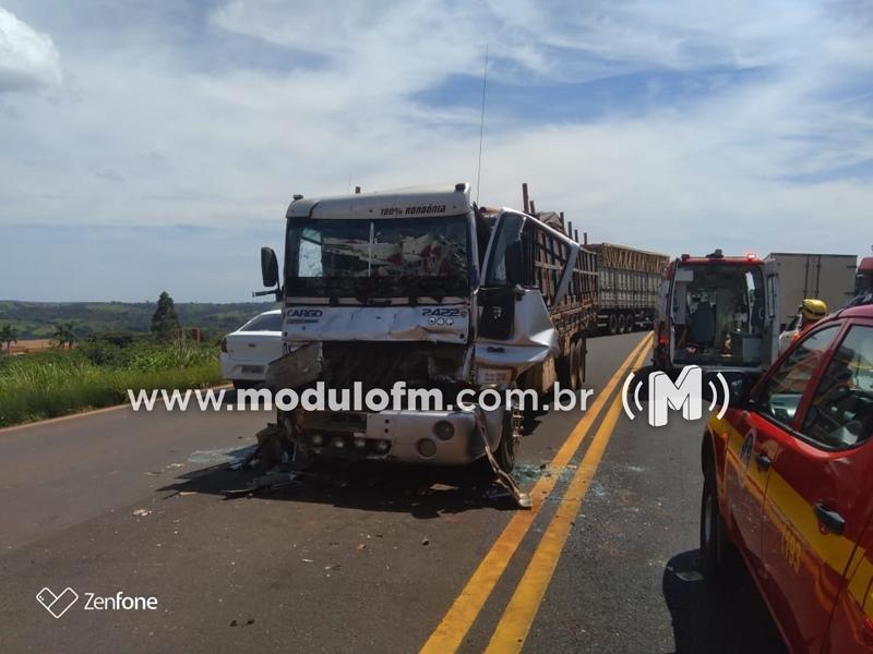 Desentendimento entre motoristas pode ter causado acidente na BR-365