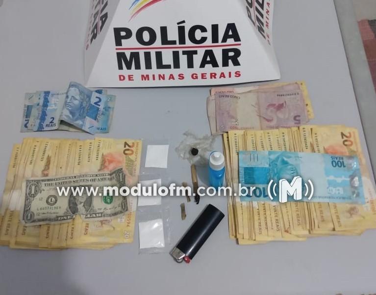 Homem é preso com drogas e dinheiro durante abordagem policial em Brejo Bonito