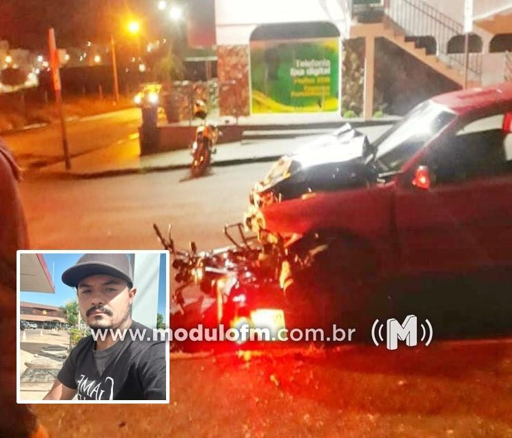 Atualizada: Motociclista morre após acidente com carro conduzido por motorista inabilitada em Patrocínio