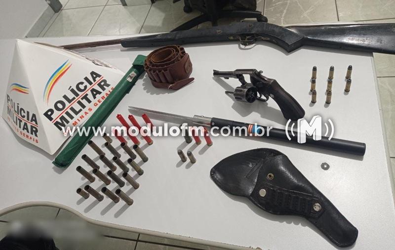 Três pessoas são presas com armas de fogo e munições em Serra do Salitre