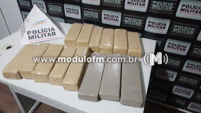 PM prende autor por tráfico de drogas e apreende grande quantidade de drogas no Bairro Cruzeiro