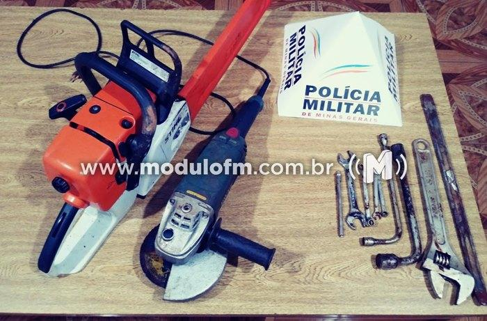 Polícia Militar apreende materiais roubados em meio a cafezal