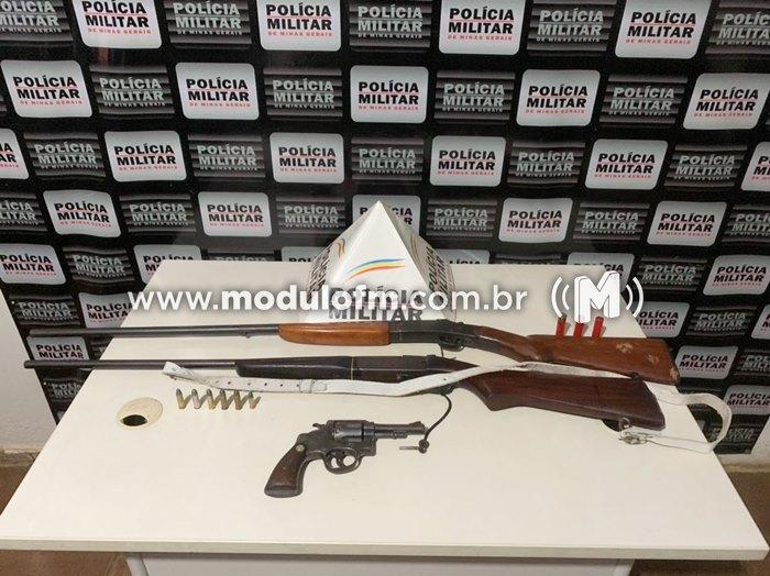 Polícia Militar prende autor posse ilegal de arma de fogo