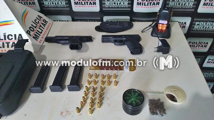 Polícia Militar apreende arma de fogo e materiais diversos em residência no Bairro Enéas