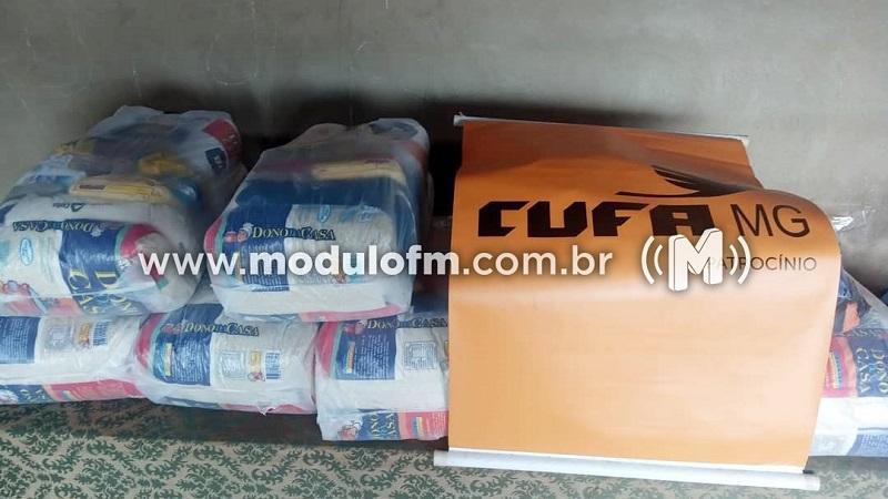 """Cufa Patrocínio entrega doações recebidas para o programa """"Mães..."""
