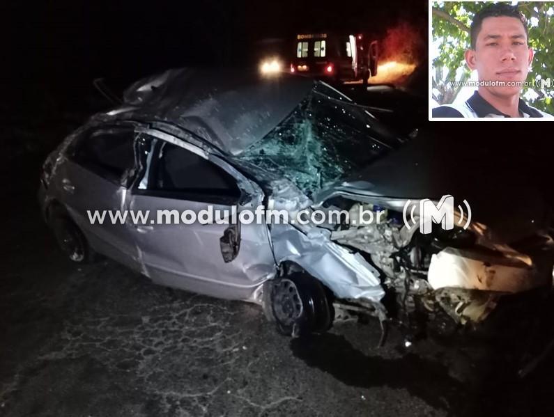 Motorista morre após colisão entre carro e caminhão na...