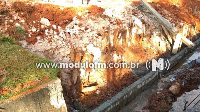 Secretaria de Obras continua com a recuperação de desabamento na Avenida Dr. Walter Pereira Nunes