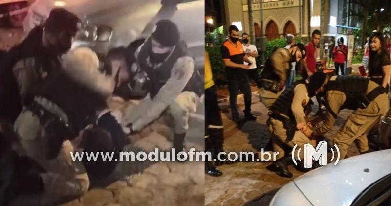Vídeo mostra agressão em homem durante ação policial em...