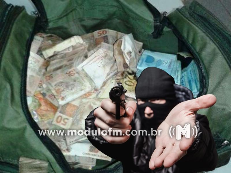 Assaltantes roubam malote em porta de banco em Patrocínio