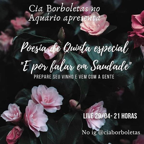 Cia Borboletas no Aquário realiza a live