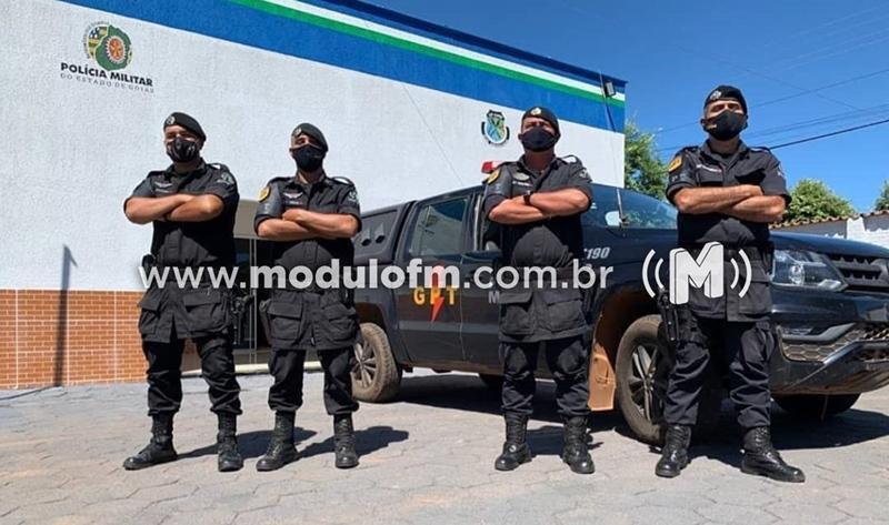 Grupo de Patrulhamento Tático da Polícia Militar de Goiás prende dois indivíduos em Patrocínio suspeitos de furtarem residência na cidade de Catalão