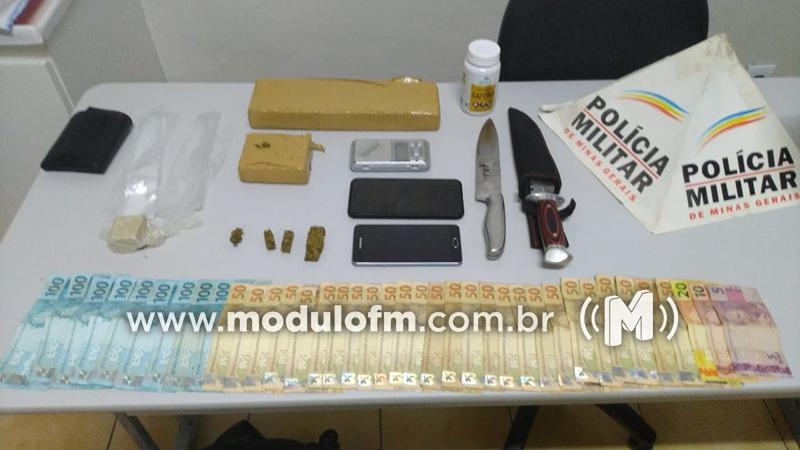 Homem é preso por suspeita de tráfico de drogas nas proximidades do terminal rodoviário de Patrocínio