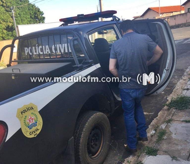 Homem é preso suspeito de furto de máquina agrícola encontrada em Perdizes