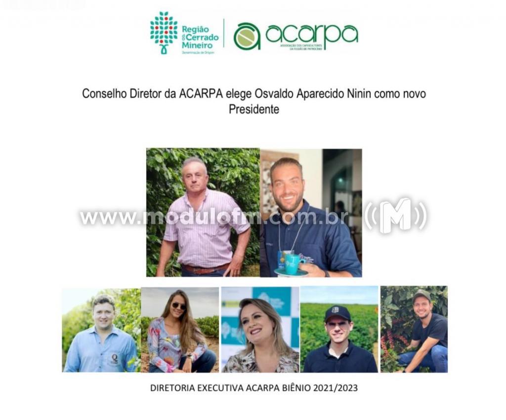 Osvaldo Aparecido (Ninin) é eleito presidente da ACARPA
