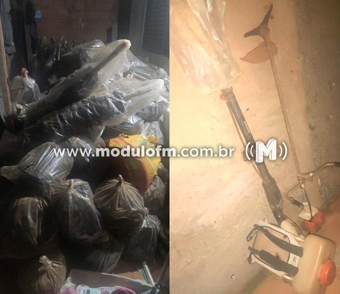 PM identifica suspeito de furto em residência de Guimarânia e recupera objetos furtados no bairro Enéas em Patrocínio