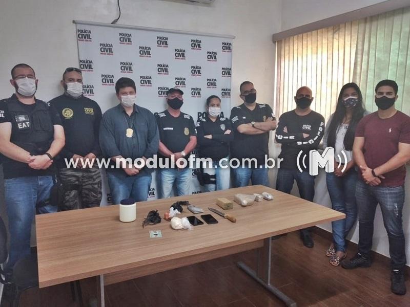 Polícia Civil prende o maior traficante de cidades vizinhas a Grupiara
