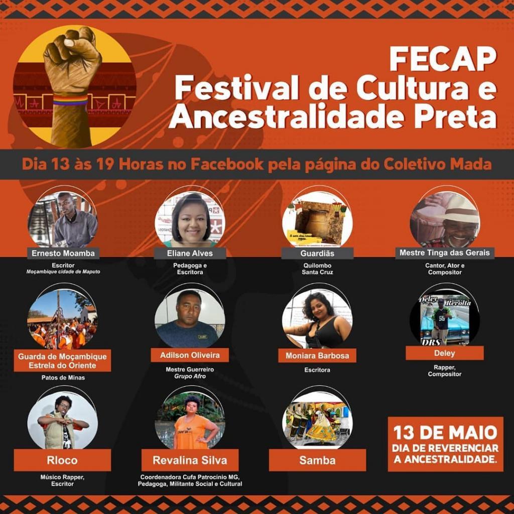 1º FECAP (Festival de Cultura e Ancestralidade Preta) acontece hoje 13 de maio