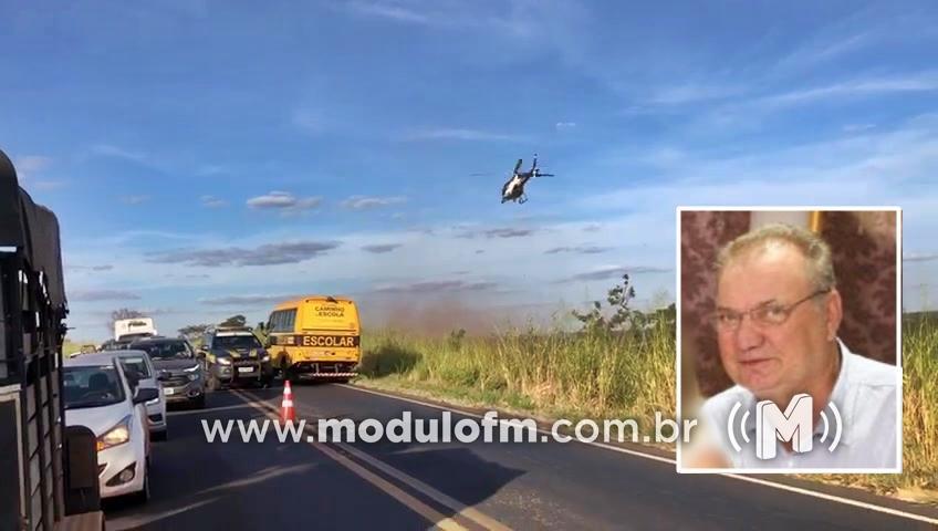 Ex-prefeito é baleado na testa após entrar em luta corporal com assaltantes em Iraí de Minas