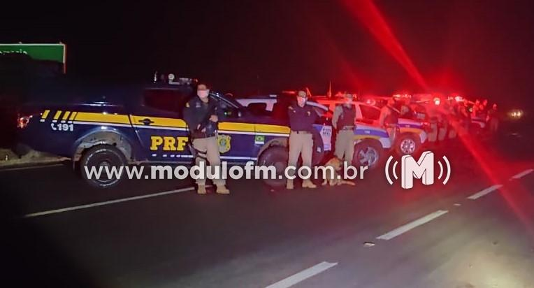 Polícia Militar e Polícia Rodoviária Federal realizam operação conjunta em rodovias