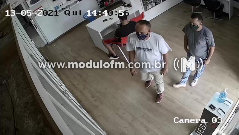 Veja o vídeo: Homem é flagrado furtando iPhone avaliado em cerca de R$ 9 mill em loja de celular
