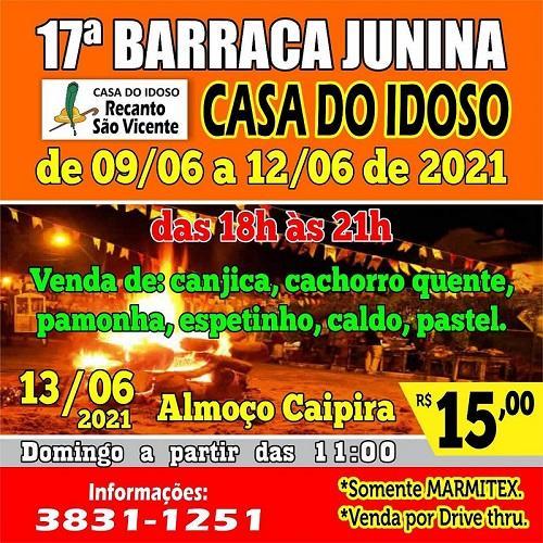 17ª Barraca Junina da Casa do Idoso começa nesta quarta-feira (09/06)