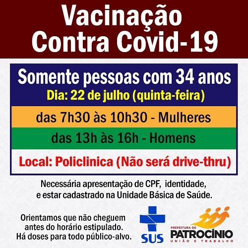 A imunização contra a COVID-19 em Patrocínio avança e...