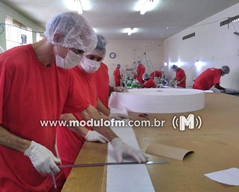 Meio milhão de máscaras produzidas em unidades prisionais são...