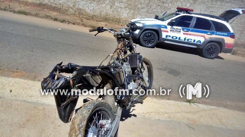 Motocicleta furtada é localizada e menor é aprendido por...