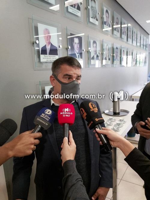Vice-governador de Minas Gerais visitou Patrocinio na manha desta...