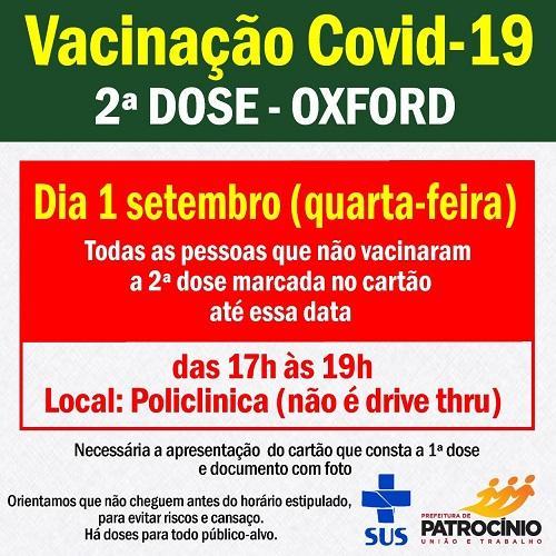Segunda dose da vacina